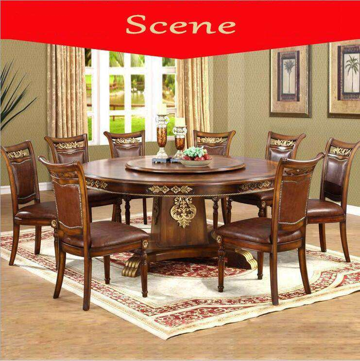 Modern Style Italian Dining Table, 100% Solid Wood Italy Style Luxury Dining Table Set 1085 - Gustobene