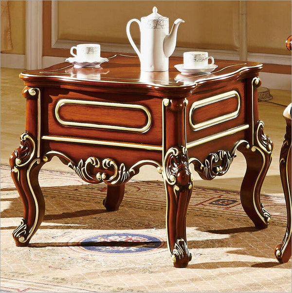 Antique Style Italian small table, 100% Solid Wood Italy Style Luxury Table Set pfy701 - Gustobene