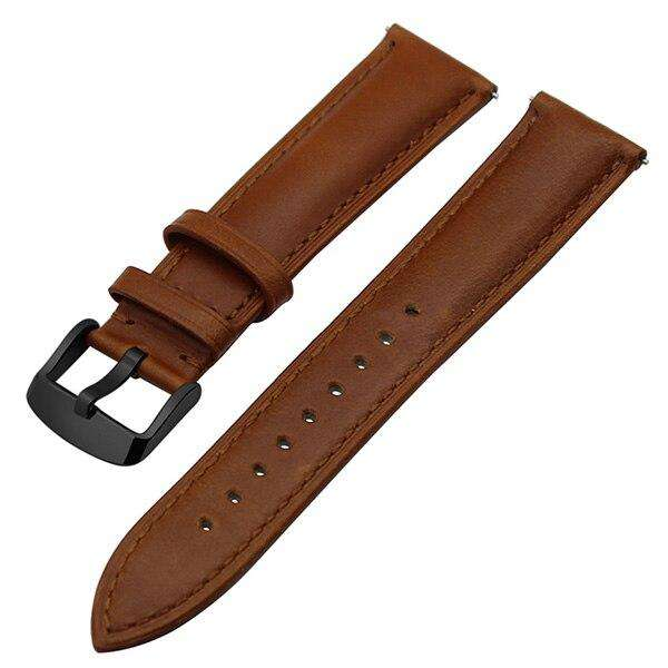 Italian Genuine Leather Watchband Quick Release Strap for Samsung Gear S3 Classic Frontier Gear 2 Neo Live Watch Band Wrist Belt - Gustobene
