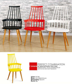 Italian modern Nordic chair, home restaurant/cafe hotel chair, practical Windsor chair, the study chair - Gustobene