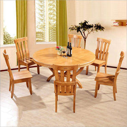 Modern Style Italian Dining Table, 100% Solid Wood Italy Style Luxury round Dining Table set o122 - Gustobene