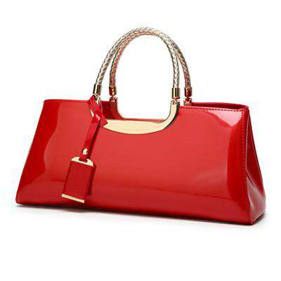 High Quality Patent Leather Women Bag Sac A Main Travel Shoulder bags for women 2019 Totes Italian Leather Handbags bolso mujer - Gustobene