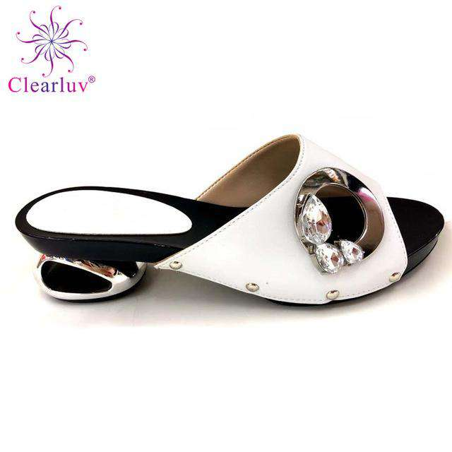 Best selling 2019 design for wedding high quality Italian design PU leather adults shoes African woman shoes possible match bag - Gustobene