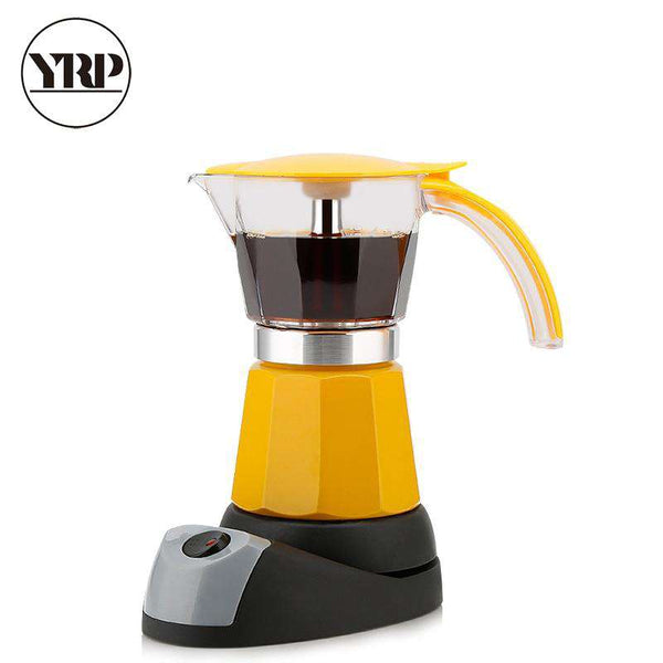 YRP 6 Cups Portable Electric Coffee Maker Espresso Moka Coffee Pot Italian Espresso Mocha Latte Percolator Tool Filter Cafeteira