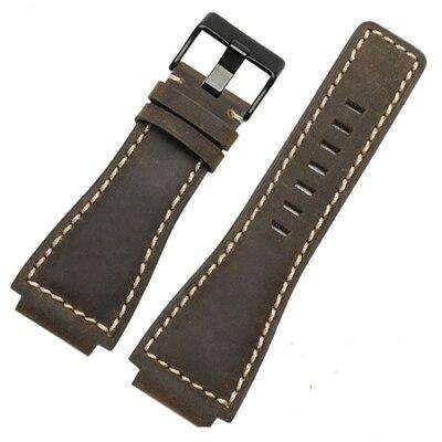 MERJUST 33*24mm Convex End Italian Soft Calfskin Leather Watch Strap For Bell Series BR01 BR03 Watchband Bracelet Belt Ross