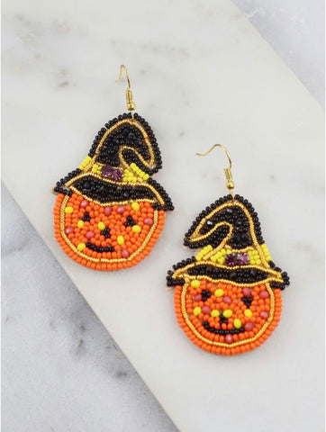 Jack O Lantern Earrings