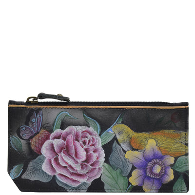 Anuschka RFID Blocking Card Case With Coin Pouch Vintage Bouquet 1140-VBQ