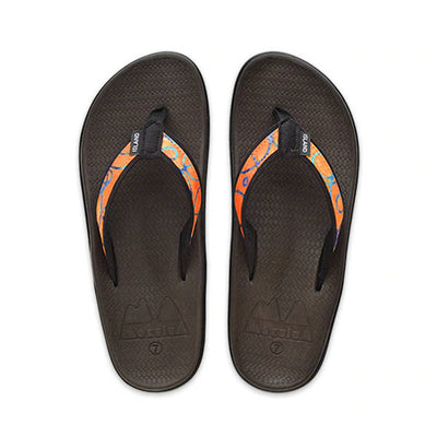 Island Slipper Womens Alohi Wahine Orange Batik