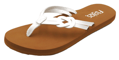 Flojos Womens Azure White Tan