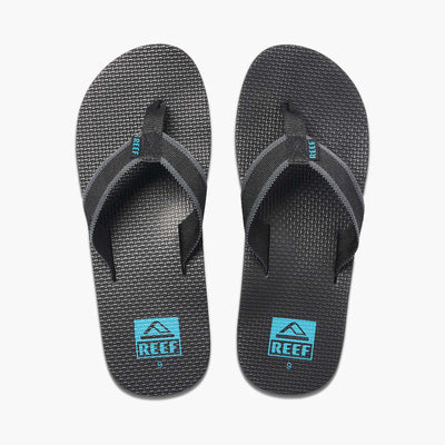 Reef Mens Beach Woven Black Aqua