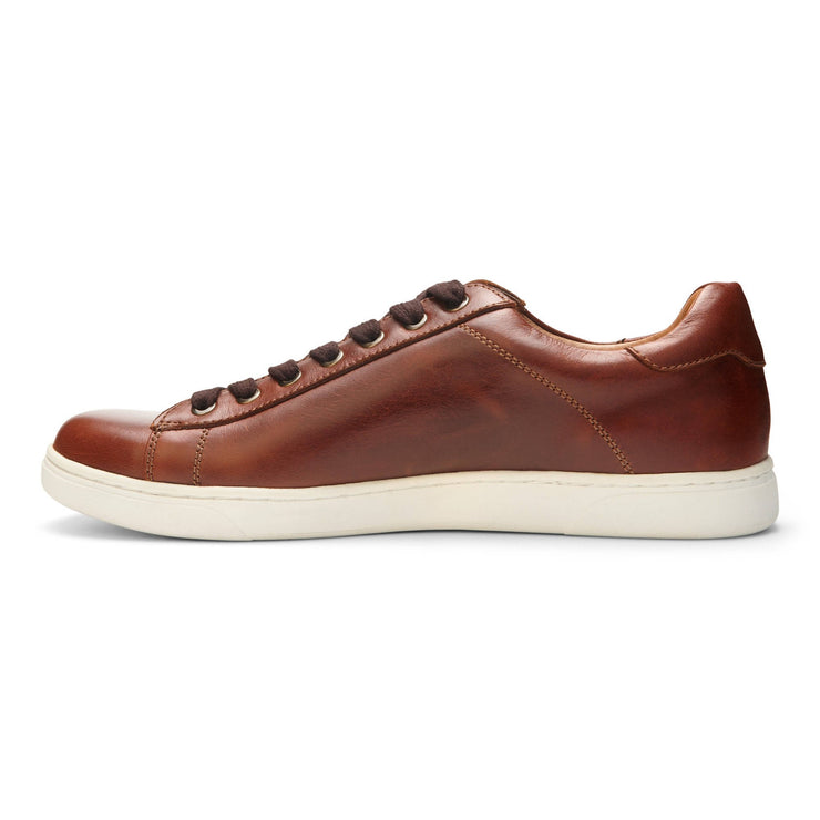 Vionic Mens Baldwin Lace up Sneaker Dark Brown