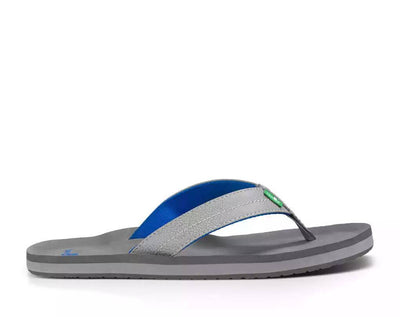 Sanuk Mens Burm Grey Light Grey