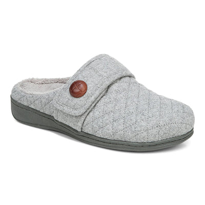 Vionic Womens Carlin Slipper Light Grey