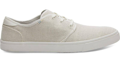 Toms Mens Carlo Sneakers Natural Birch Heritage Canvas