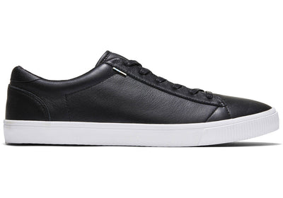 Toms Mens Carlson Leather Sneakers Black