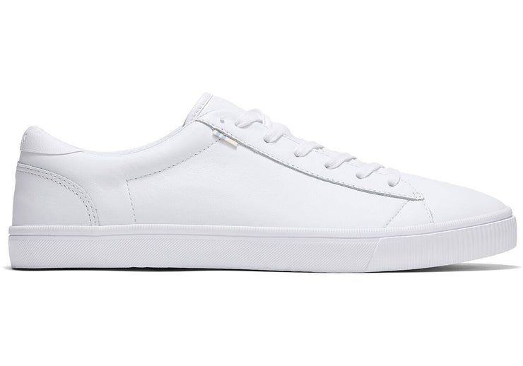 Toms Mens Carlson Leather Sneakers White
