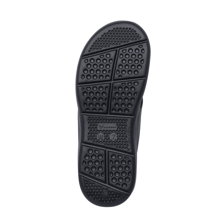 Joybees Womens Casual Flip Black