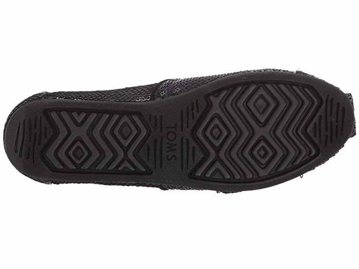 Toms Womens Classic Black Sequin