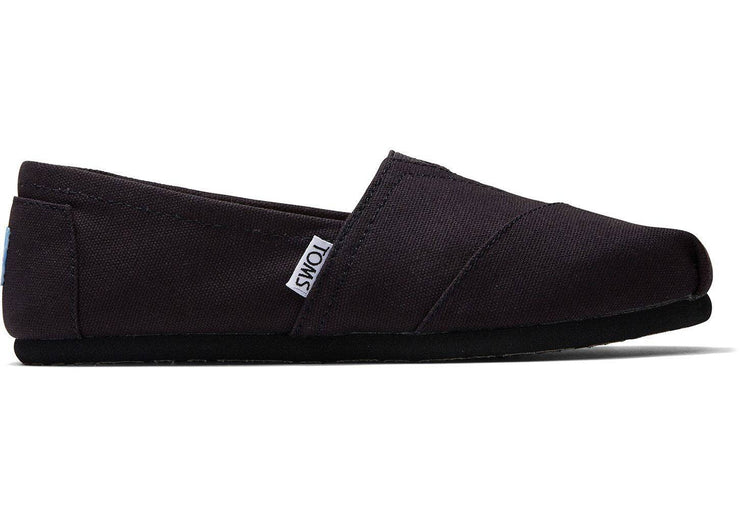 Toms Womens Classic Black on Black Canvas