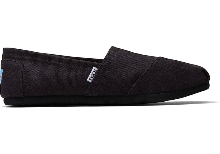 Toms Mens Classic Canvas Black on Black