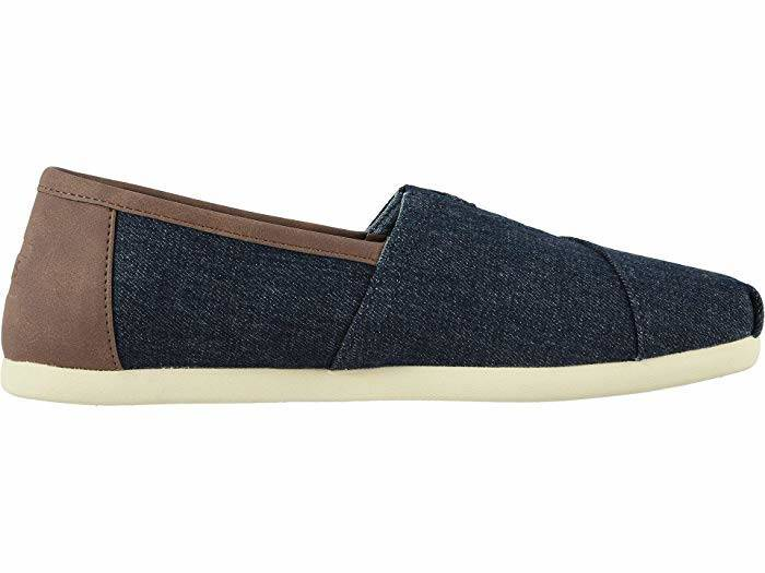 Toms Mens Classic Dark Denim With Synthetic Leather Trim
