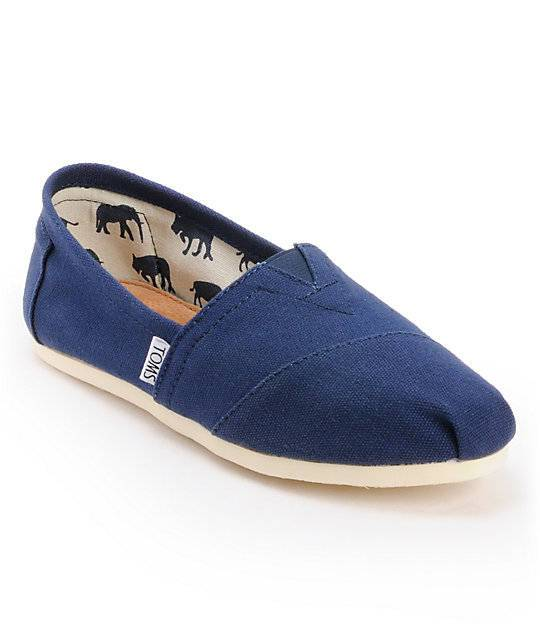 Toms Womens Classic Navy Canvas