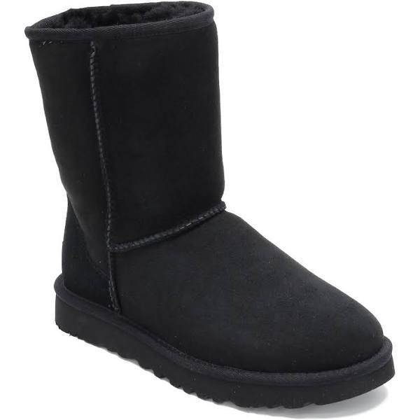 UGG Womens Classic Short II Tasman Braid Black