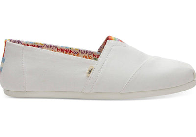 Toms Mens Classic White Canvas Unity Print
