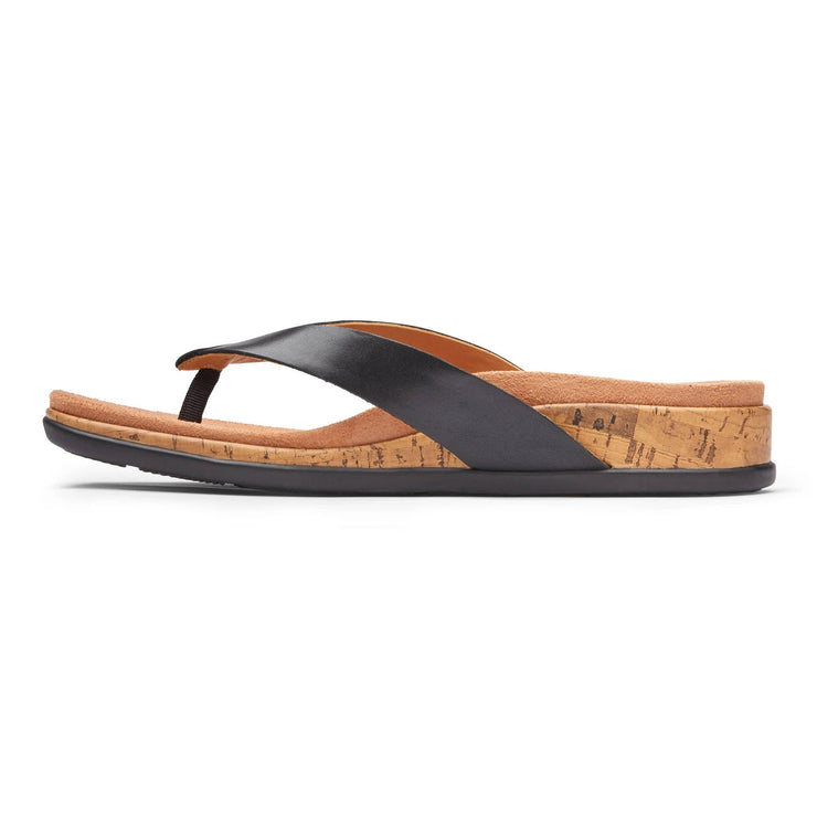 Vionic Womens Daniela Toe Post Sandal Black
