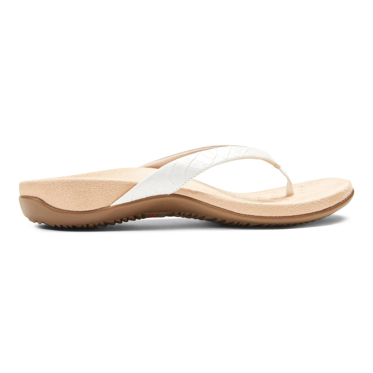Vionic Womens Dillon Toe Post Sandal Croc White