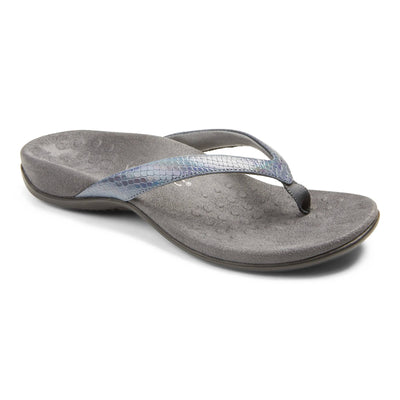 Vionic Womens Dillon Toe Post Sandal Iridescent Snake