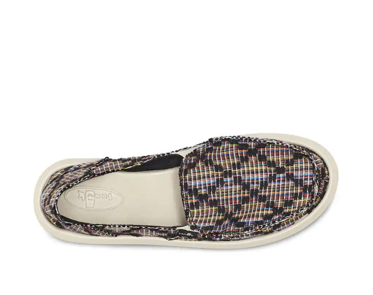 Sanuk Womens Donna Weave Black Multi