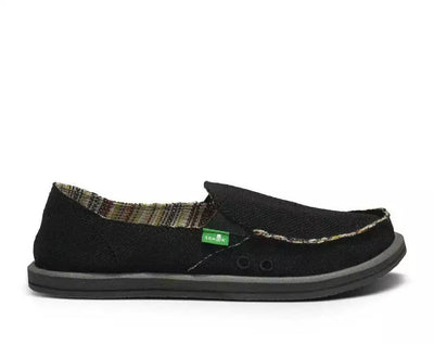 Sanuk Womens Donna Hemp Black