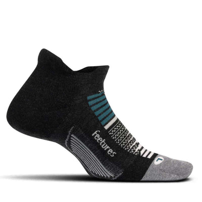Feetures Elite Max Cushion No Show Tab Asteroid Grey