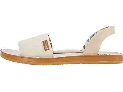 Flojos Womens Emery Ivory Tan