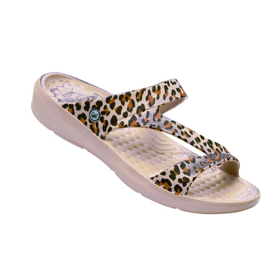 Joybees Womens Everyday Sandal Graphic Leopard