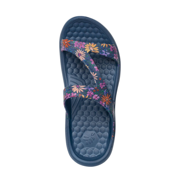 Joybees Womens Everyday Sandal Graphic Painterly Floral