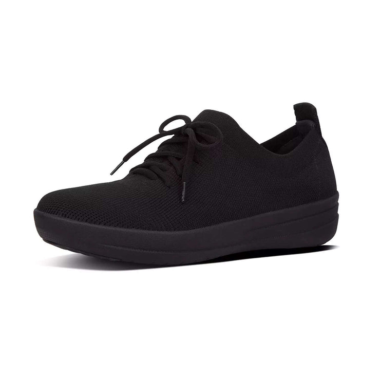FitFlop Womens F-Sporty Uberknit Sneakers All Black