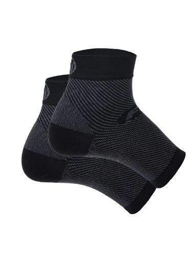 OS1st FS6 Sports Compression Plantar Fasciitis Foot Sleeve Pair Black