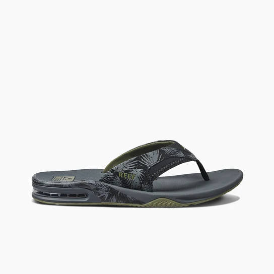 Reef Mens Fanning Prints Olive Palm