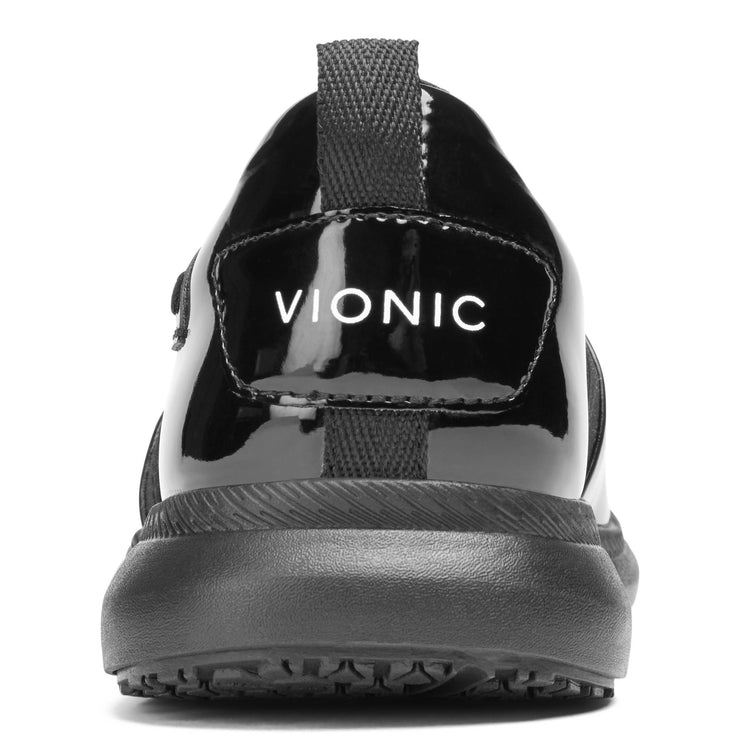 Vionic Womens Fiona Pro Patent Slip On Black Wide