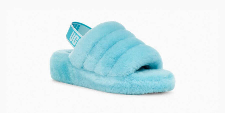 UGG Womens Fluff Yeah Slide Clear Water