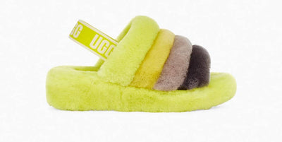 UGG Womens Fluff Yeah Slide Sulfur Multi 9
