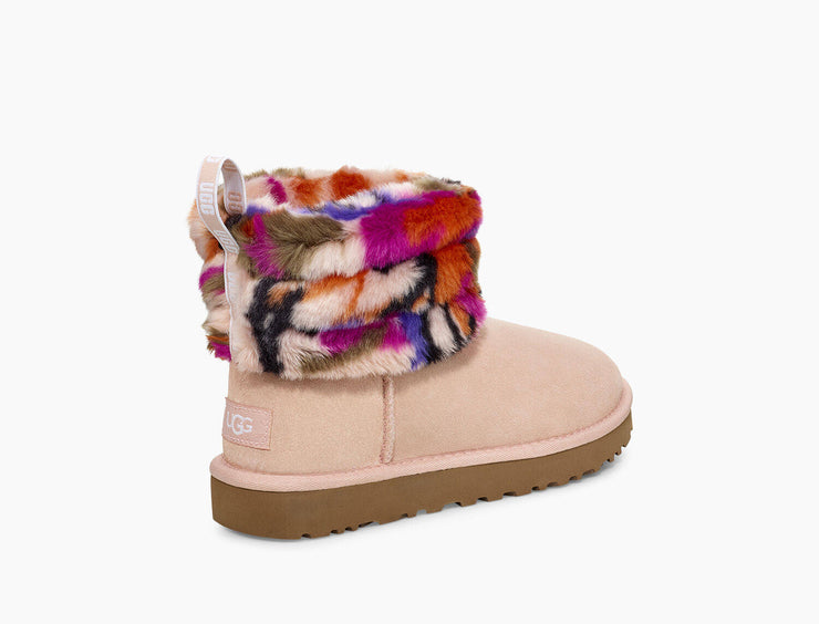 UGG Womens Fluff Mini Quilted Motlee Multi