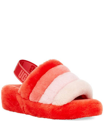 UGG Womens Fluff Yeah Slide Lava Flow Multi
