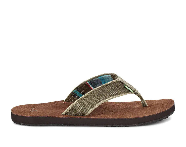 Sanuk Mens Fraid Not Brown Brown