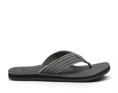 Sanuk Mens Fraid Not Charcoal