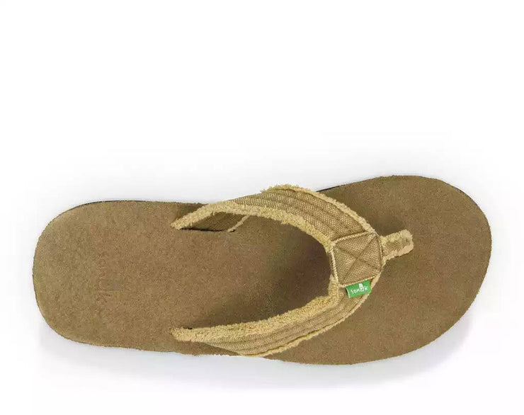 Sanuk Mens Fraid Not Khaki