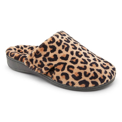 Vionic Womens Gemma Slipper Leopard Tan