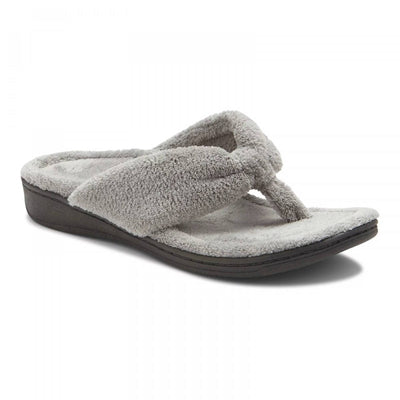 Vionic Womens Gracie Toe Post Slipper Light Grey
